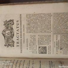 Livres anciens: LIBRO TRACTATUS PARTITIONIBUS. Lote 205351412