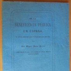 Libros antiguos: DE LA BENEFICIENCIA PUBLICA EN ESPAÑA DON MIGUEL BLANCO HERRERO MADRID 1869. Lote 205431632