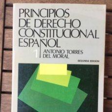 Libros antiguos: PRINCIPOS DE DERECHO CONSTITUCIONAL ESPAÑOL. Lote 205444856