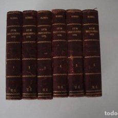 Libros antiguos: LEY DE ENJUICIAMIENTO CIVIL 6 TOMOS JOSE MARIA MANRESA Y NAVARRO MADRID 1905 VER FOTOS. Lote 205803983