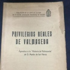 Libros antiguos: PRIVILEGIOS REALES DE VALMASEDA - BILBAO IMP. ECHEGUREN Y ZULAICA 1926 - 112P. 24,5X17CM. Lote 205808723