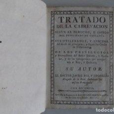 Libros antiguos: LIBRERIA GHOTICA. TRATADO DE CABREVACIÓN SEGUN EL DERECHO DEL PRINCIPADO DE CATALUÑA. 1784.PERGAMINO. Lote 205811263