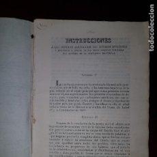 Libros antiguos: INSTRUCCIONES PARA LOS SENADORES Y DIPUTADOS A CORTES DE LAS ISLAS CANARIAS - 1839. Lote 205859292