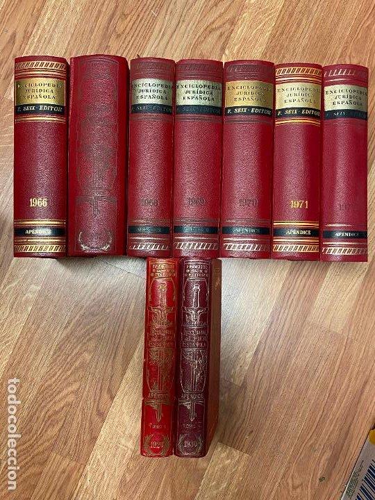 Libros antiguos: Enciclopedia juridisica española 51 tomos apendices desde 1911 hasta 1972 en perfecto estado - Foto 2 - 206908747