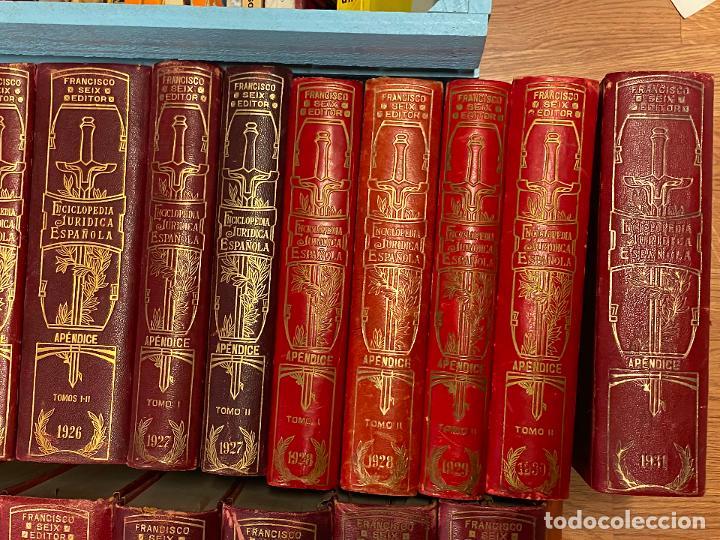 Libros antiguos: Enciclopedia juridisica española 51 tomos apendices desde 1911 hasta 1972 en perfecto estado - Foto 5 - 206908747