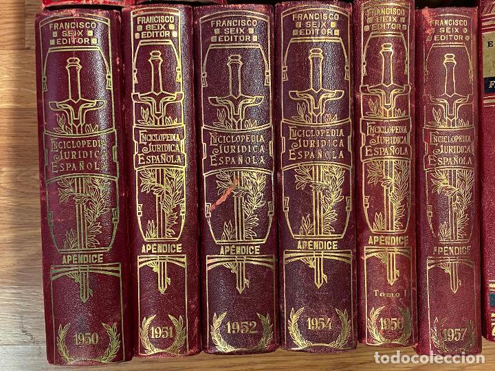 Libros antiguos: Enciclopedia juridisica española 51 tomos apendices desde 1911 hasta 1972 en perfecto estado - Foto 8 - 206908747