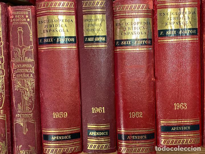 Libros antiguos: Enciclopedia juridisica española 51 tomos apendices desde 1911 hasta 1972 en perfecto estado - Foto 10 - 206908747