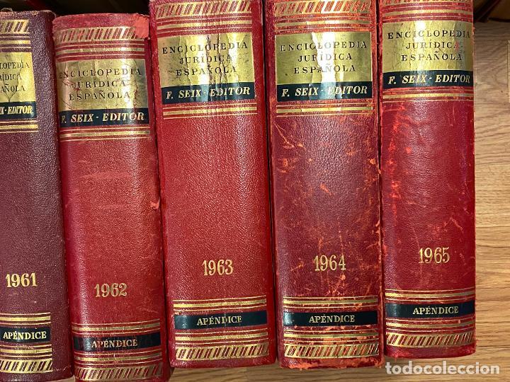 Libros antiguos: Enciclopedia juridisica española 51 tomos apendices desde 1911 hasta 1972 en perfecto estado - Foto 12 - 206908747