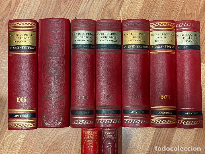 Libros antiguos: Enciclopedia juridisica española 51 tomos apendices desde 1911 hasta 1972 en perfecto estado - Foto 13 - 206908747