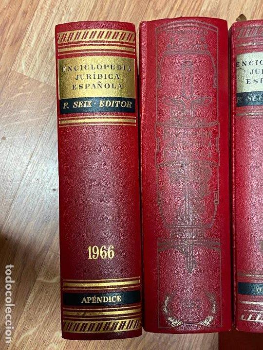 Libros antiguos: Enciclopedia juridisica española 51 tomos apendices desde 1911 hasta 1972 en perfecto estado - Foto 14 - 206908747