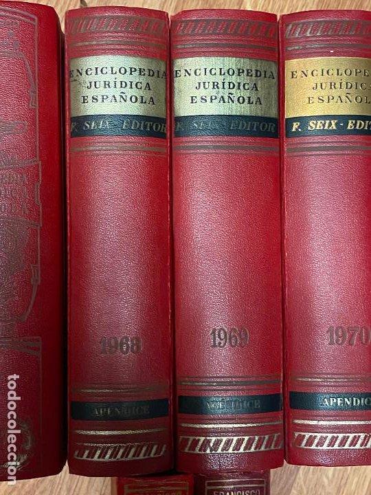 Libros antiguos: Enciclopedia juridisica española 51 tomos apendices desde 1911 hasta 1972 en perfecto estado - Foto 15 - 206908747