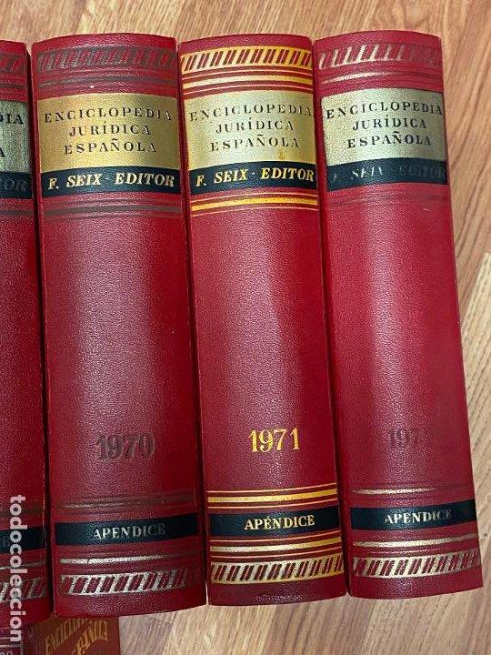 Libros antiguos: Enciclopedia juridisica española 51 tomos apendices desde 1911 hasta 1972 en perfecto estado - Foto 16 - 206908747