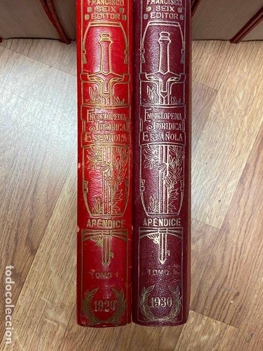 Libros antiguos: Enciclopedia juridisica española 51 tomos apendices desde 1911 hasta 1972 en perfecto estado - Foto 17 - 206908747