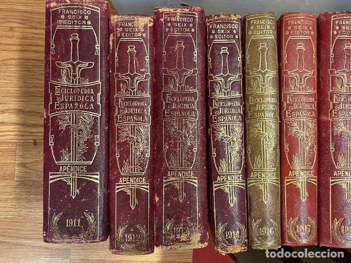 Libros antiguos: Enciclopedia juridisica española 51 tomos apendices desde 1911 hasta 1972 en perfecto estado - Foto 18 - 206908747