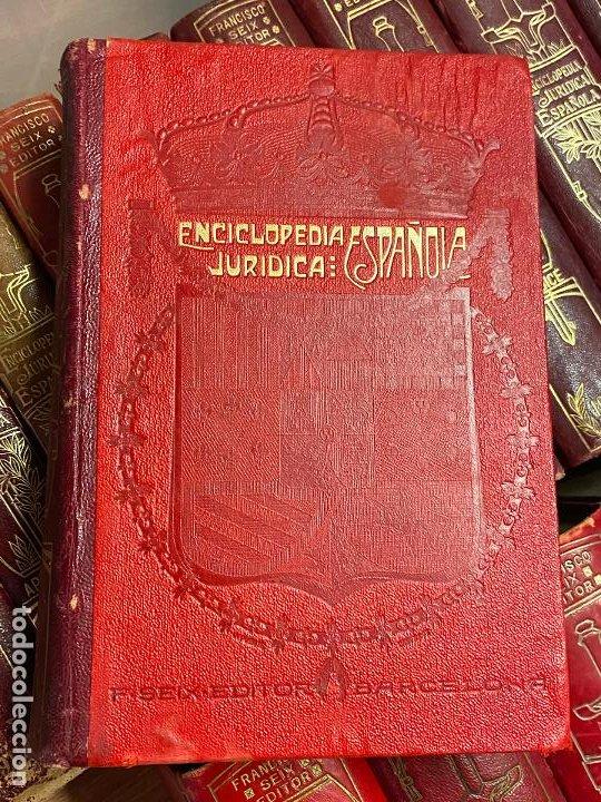 Libros antiguos: Enciclopedia juridisica española 51 tomos apendices desde 1911 hasta 1972 en perfecto estado - Foto 19 - 206908747