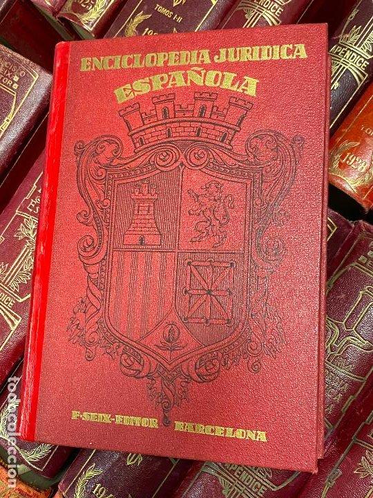 Libros antiguos: Enciclopedia juridisica española 51 tomos apendices desde 1911 hasta 1972 en perfecto estado - Foto 21 - 206908747