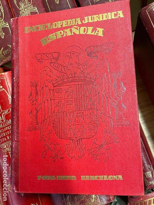 Libros antiguos: Enciclopedia juridisica española 51 tomos apendices desde 1911 hasta 1972 en perfecto estado - Foto 22 - 206908747