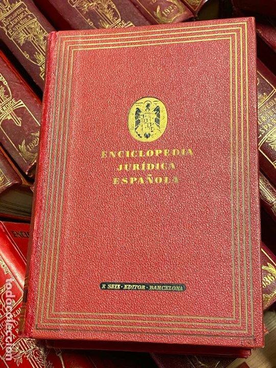 Libros antiguos: Enciclopedia juridisica española 51 tomos apendices desde 1911 hasta 1972 en perfecto estado - Foto 26 - 206908747