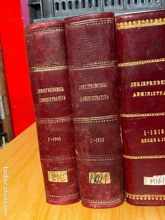 Libros antiguos: 8 tomos jurisprudencia administrativa o coleccion completa de resoluciones de 1904 a 1920 - Foto 2 - 206928300