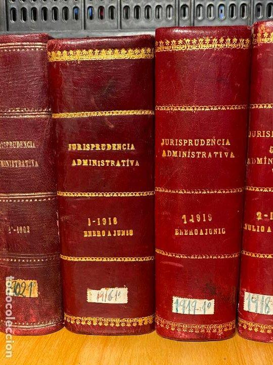 Libros antiguos: 8 tomos jurisprudencia administrativa o coleccion completa de resoluciones de 1904 a 1920 - Foto 3 - 206928300