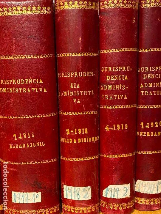 Libros antiguos: 8 tomos jurisprudencia administrativa o coleccion completa de resoluciones de 1904 a 1920 - Foto 4 - 206928300