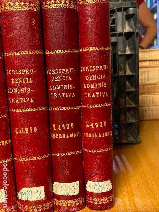 Libros antiguos: 8 tomos jurisprudencia administrativa o coleccion completa de resoluciones de 1904 a 1920 - Foto 7 - 206928300