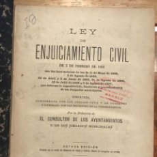 Libros antiguos: LEY DE ENJUICIAMIENTO CIVIL DE 3 DE FEBRERO DE 1881. OCTAVA EDICIÓN, MADRID 1907. Lote 206970056