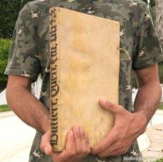 Libros antiguos: 1614 IOANNIS GUTIERREZ HISPANI - DERECHO CIVIL - PLASENCIA CÁCERES - PERGAMINO - FOLIO. Lote 207102808