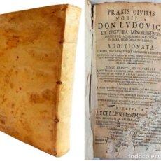 Libros antiguos: PRAXIS CIVILIS NOBILIS - LIBRO DE DERECHO EN LATÍN S XVII. Lote 207546756