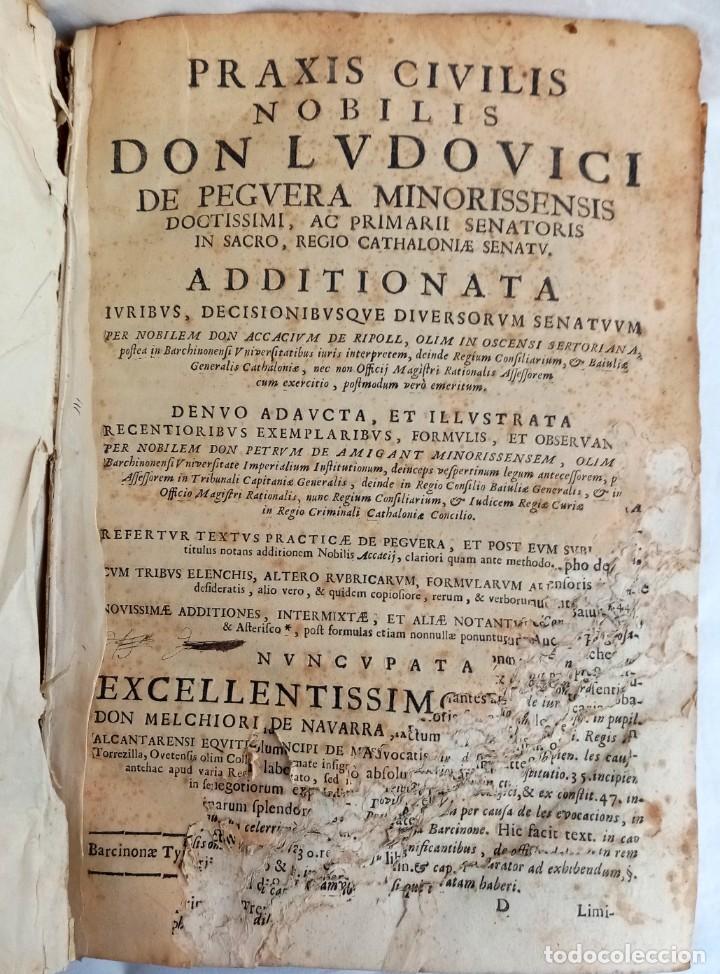 Libros antiguos: PRAXIS CIVILIS NOBILIS - LIBRO DE DERECHO EN LATÍN S XVII - Foto 6 - 207546756
