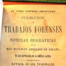 Libros antiguos: COLECCIÓN DE TRABAJOS FORENSES (1897) SIN USAR. DAÑADO. Lote 209142612