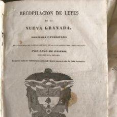 Libros antiguos: 1845 - RECOPILACION DE LEYES DE LA NUEVA GRANADA. (COLOMBIA). LINO DE POMBO. BOGOTÁ. Lote 209232337