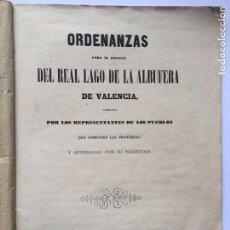 Libros antiguos: 1862 - ALBUFERA VALENCIA. ORDENANZAS. Lote 209233333