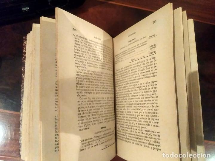 Libros antiguos: HACIENDA MUNICIPAL- ABELLA - MADRID 1894 (conserva desplegable) - Foto 8 - 189375625