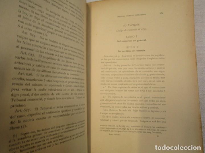 Libros antiguos: TOMO III - CODIGOS DE COMERCIO ESPAÑOLES Y EXTRANJEROS - FAUSTINO ALVAREZ 1910 INTONSO + INFO - Foto 3 - 209704492
