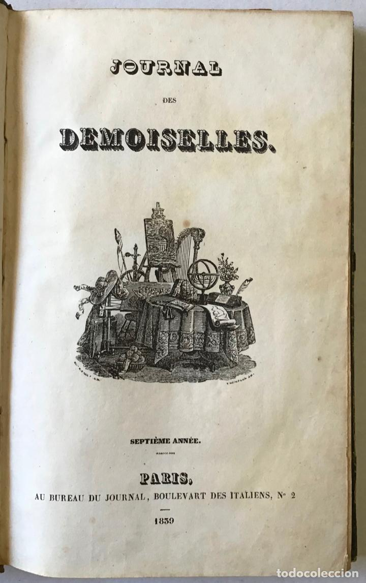 Libros antiguos: JOURNAL DES DEMOISELLES. - [Revista.] - Foto 1 - 123269818