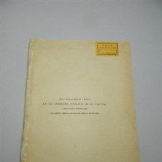 Livres anciens: HINOJOSA, EDUARDO DE. INFLUENCIA QUE TUVIERON EN EL DERECHO PÚBLICO DE SU PATRIA Y SINGULARMENTE EN. Lote 209998521
