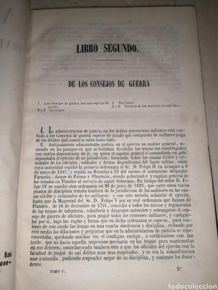 Libros antiguos: Nuevo Colón . Tratado de de derecho militar de España y sus Indias tomo II 1851 - Foto 6 - 210480543