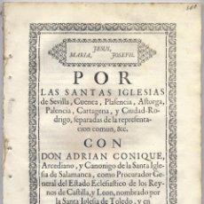 Libros antiguos: FERRAZ, LD. BARTOLOMÉ. POR LAS SANTAS IGLESIAS DE SEVILLA, CUENCA... CON DON ADRIAN CONIQUE... 1729. Lote 210691027