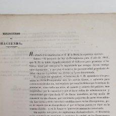 Libros antiguos: PRESUPUESTO GENERAL DE GASTOS E INGRESOS DEL ESTADO 1853 LIBRO ANTIGUO MUY RARO. Lote 210790991