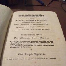 Libros antiguos: LIBRERÍA DE ESCRIBANOS TOMO VII FLORENCIO GARCÍA GOYENA 1842. Lote 212012843