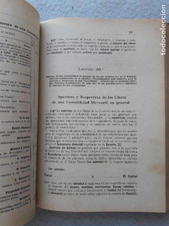 Libros antiguos: Tratado Universal de Teneduría de Libros. Constantino de Horta y Prado. Año 1928. - Foto 9 - 212078247