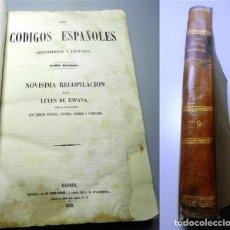 Libros antiguos: LOS CÓDIGOS ESPAÑOLES CONCORDADOS Y ANOTADOS. TOMO NOVENO : NOVÍSIMA RECOPILACIÓN DE LAS LEYES DE ES. Lote 213802011