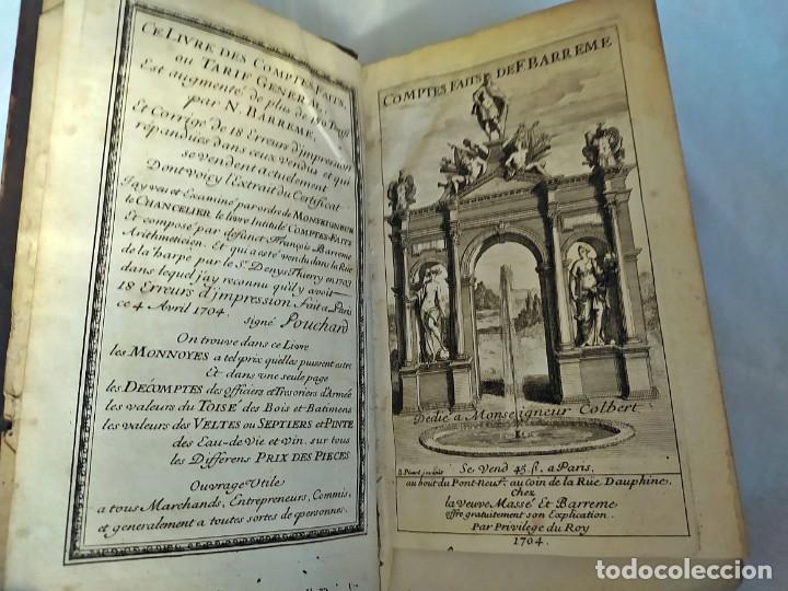 AÑO 1703: LAS CUENTAS HECHAS. TARIFA GENERAL DE MONEDAS.LIBRO DE ECONOMÍA CON FRONTISPICIO. (Libros Antiguos, Raros y Curiosos - Ciencias, Manuales y Oficios - Derecho, Economía y Comercio)