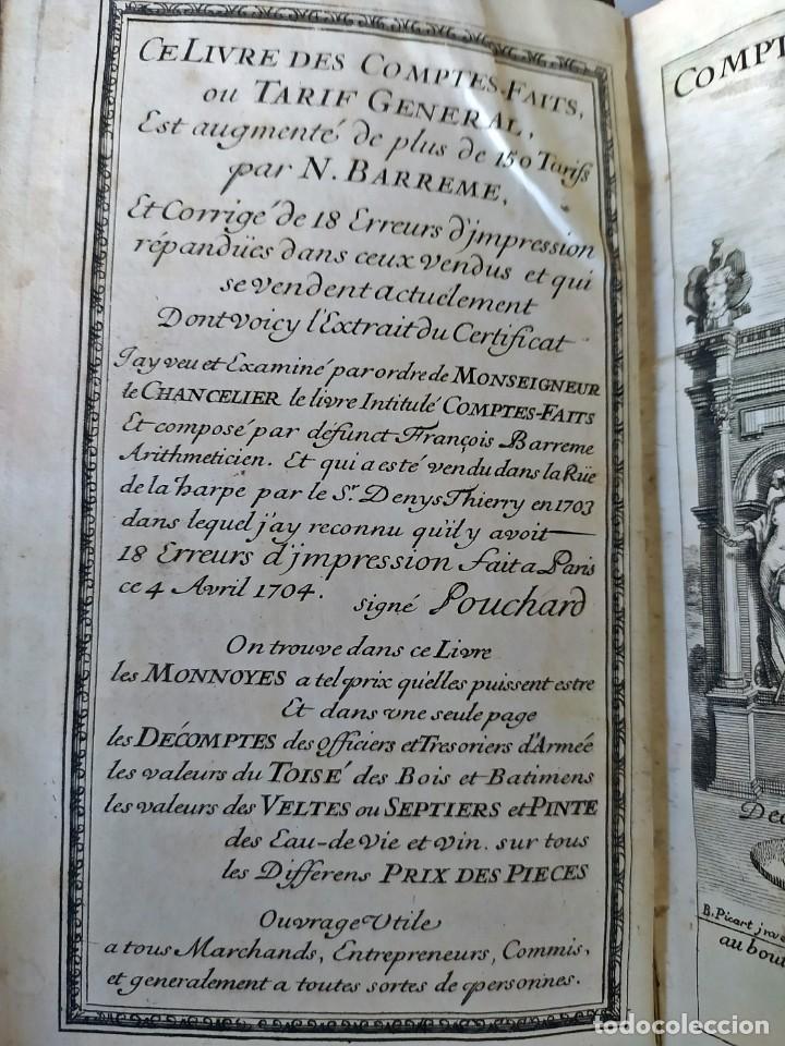 Libros antiguos: AÑO 1703: LAS CUENTAS HECHAS. TARIFA GENERAL DE MONEDAS.LIBRO DE ECONOMÍA CON FRONTISPICIO. - Foto 5 - 203062990