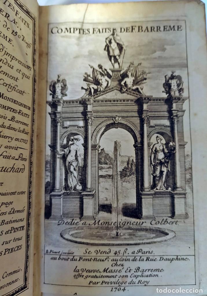 Libros antiguos: AÑO 1703: LAS CUENTAS HECHAS. TARIFA GENERAL DE MONEDAS.LIBRO DE ECONOMÍA CON FRONTISPICIO. - Foto 6 - 203062990