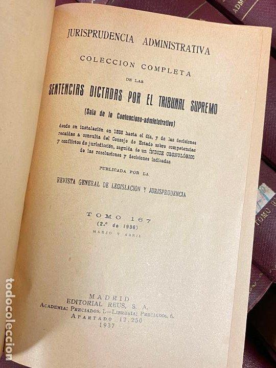 Libros antiguos: 43 TOMOS JURISPRUDENCIA ADMINISTRATIVA - Foto 2 - 216661476