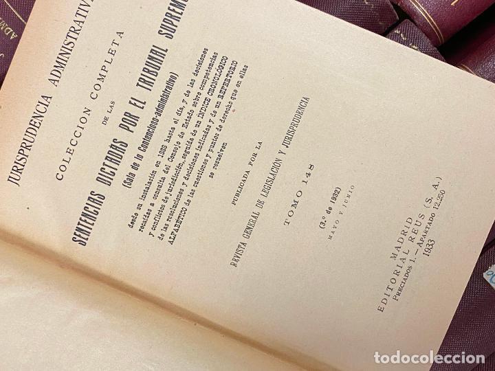 Libros antiguos: 43 TOMOS JURISPRUDENCIA ADMINISTRATIVA - Foto 4 - 216661476