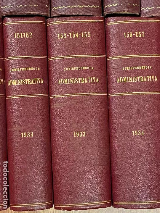 Libros antiguos: 43 TOMOS JURISPRUDENCIA ADMINISTRATIVA - Foto 8 - 216661476