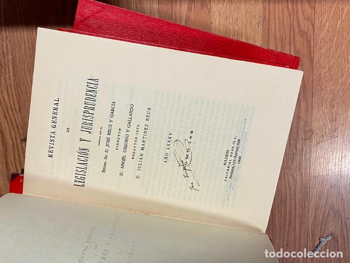 Libros antiguos: 7 TOMOS LEGISLACION Y JURISPRUDENCIA - Foto 7 - 216661950